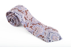 Cotton Paisley - Brown/Grey/Light Blue