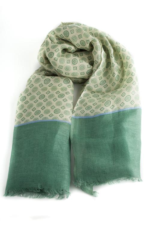 Scarf Medallion - Green