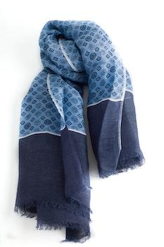 Scarf Medallion - Navy Blue