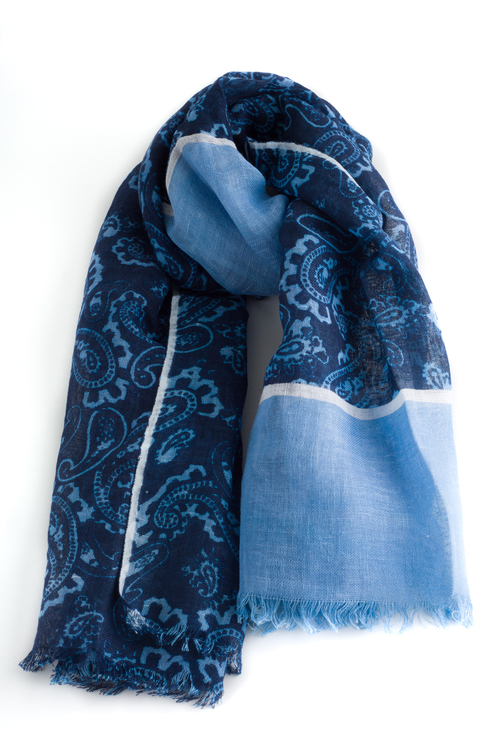 Scarf Paisley - Navy Blue