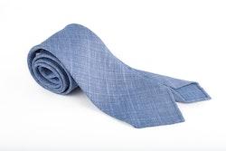 Linen Silk Untipped Plaid - Mid Blue