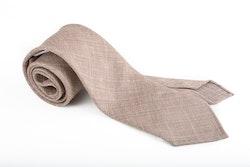 Linen Silk Untipped Plaid - Beige
