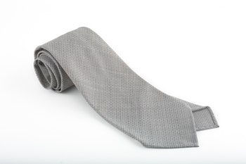 Micro Square Wool Tie - Untipped - Grey