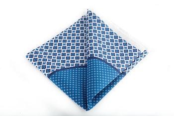 Silk Multi - White/Light Blue/Navy Blue