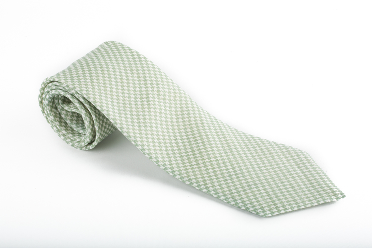 Linen Dogtooth - Green/White