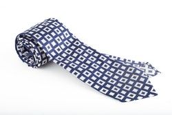 Silk Square Untipped - Navy Blue/White