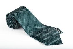 Silk Pin Dot Untipped - Green/White