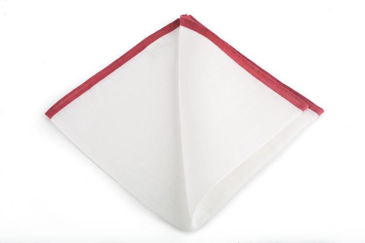 Linen Candy Stripe - White/Burgundy
