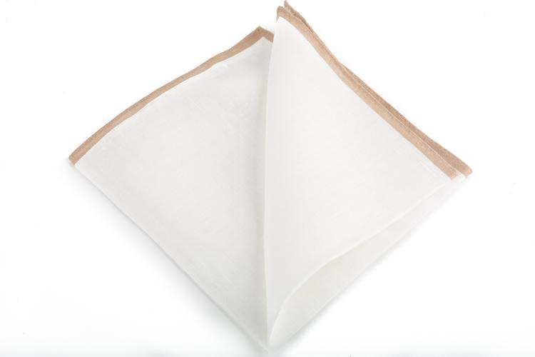 Linen Candy Stripe - White/Beige
