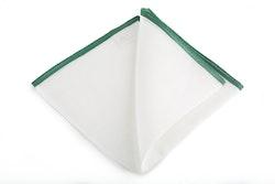 Linen Candy Stripe - White/Dark Green