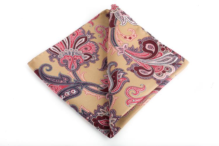 Silk Floral Vintage - Beige/Burgundy/Pink
