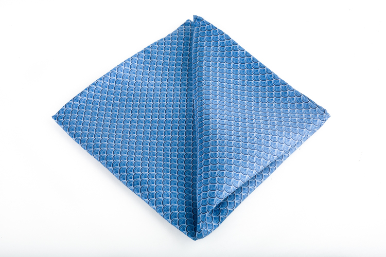 Venti Vintage Silk Pocket Square - Light Blue