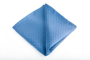 Venti Vintage Silk Pocket Square - Light Blue