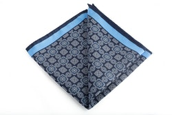 Silk Medallion - Navy Blue/Light Blue