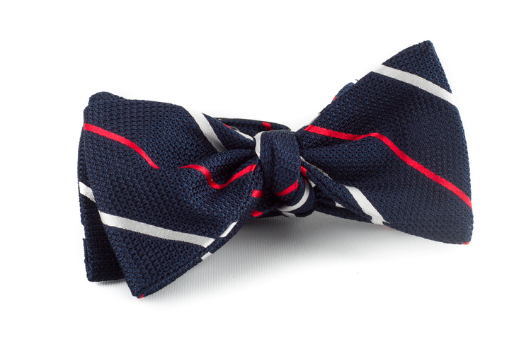 Self tie Grenadine Regimental - Navy Blue/Red/White