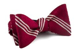 Self tie Shantung Regimental - Red/White
