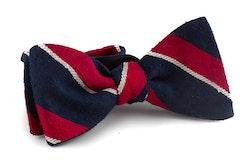 Self tie Shantung Regimental - Navy Blue/Red/White