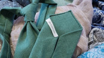Linen Silk Cotton Untipped Solid - Green