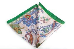 Silk Paisley - Beige/Green/Light Blue (45x45)