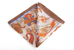 Silk Paisley - Beige/Light Brown/Orange (45x45)