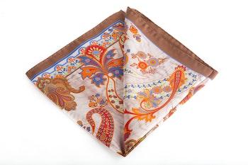Silk Paisley - Beige/Light Brown/Orange (45x45)