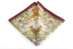 Silk Goose - White/Burgundy/Green (45x45)