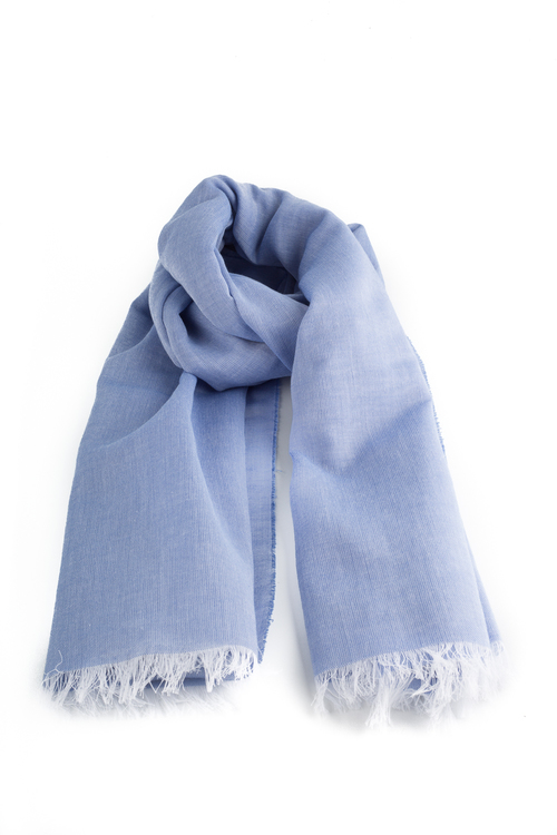 Scarf Cotton Solid - Blue