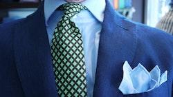 Printed Diamond - Brown/Green