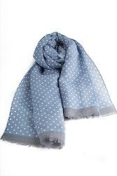 Scarf Polka Dot - Mid Blue/White/Grey