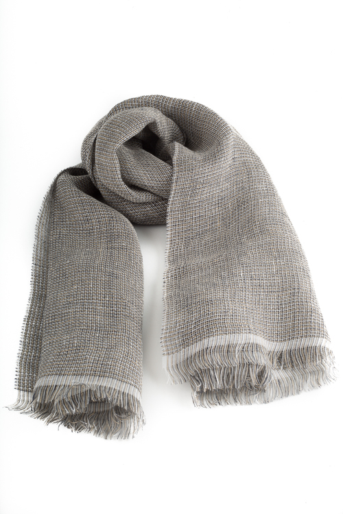 Scarf Solid - Brown/Beige