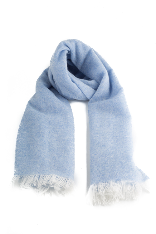 Scarf Solid Cashmere - Light Blue