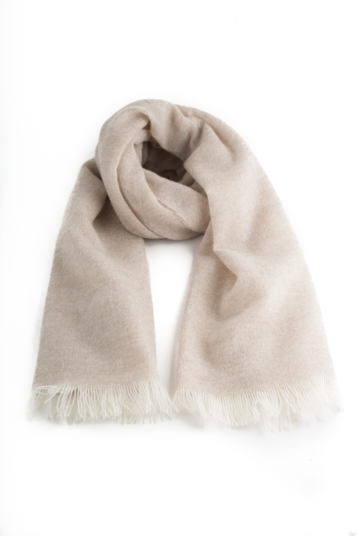 Scarf Solid Cashmere - Beige