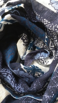 Scarf Multi Floral - Navy Blue