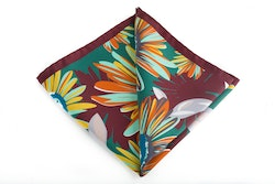 Silk Grande Fiori - Burgundy/Orange/Green/Yellow/Turquoise