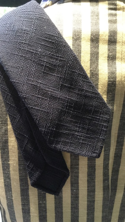Linen Untipped Solid - Navy Blue
