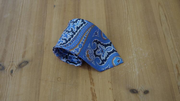 Printed Paisley - Navy Blue/Light Blue/Yellow