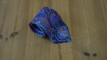 Printed Paisley - Light Blue/Rust/Turquoise/White