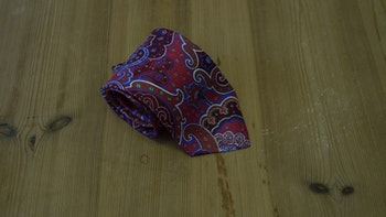 Printed Paisley - Red/Mid Blue/Green/White