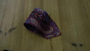 Printed Paisley - Brown/Mid Blue/Red/Beige
