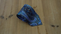 Printed Paisley - Navy Blue/Turquoise/Brown/Purple