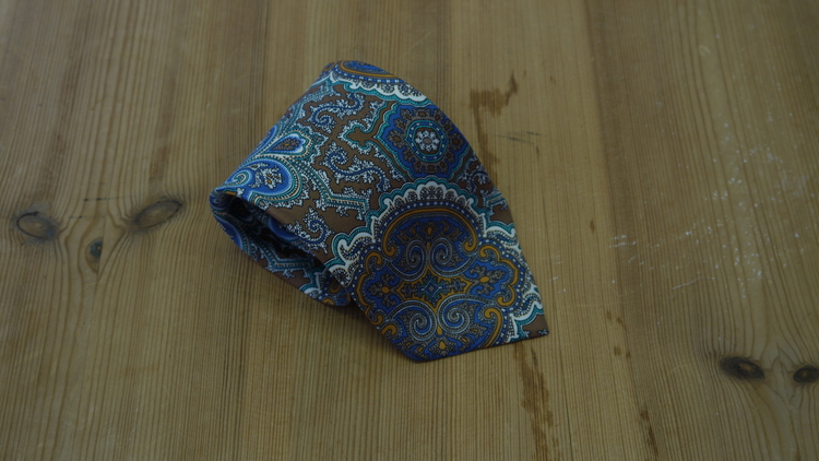 Printed Paisley - Beige/Light Blue/Turquoise/White