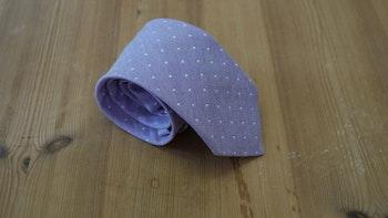 Silk Donegal Polka Dot - Purple/White