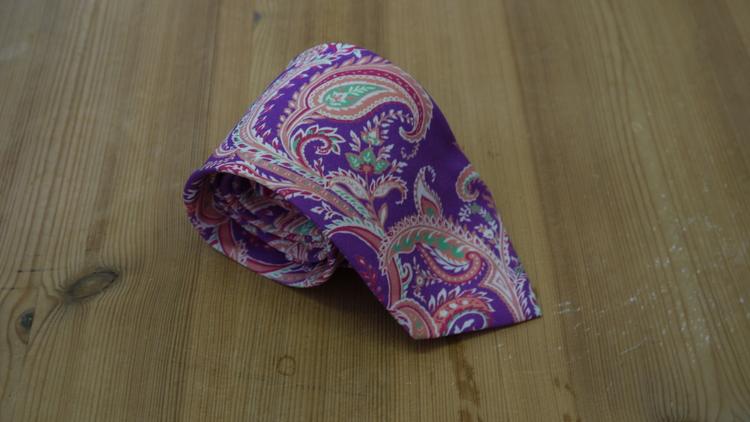 Cotton/Silk Paisley - Purple/Cerise/Fuchsia/Green/White