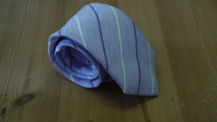 Linen Regimental - Purple/White