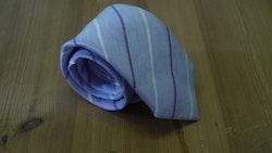 Linen Regimental - Purple/White