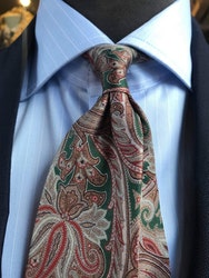 Printed Paisley - Green/Beige/Red