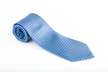 Squame Vintage Silk Tie - Light Blue