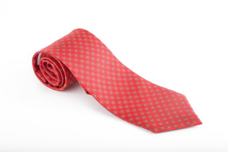 Catena Vintage Silk Tie - Red