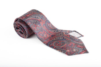 Printed Paisley Untipped - Rust/Navy Blue/Turquoise/Beige