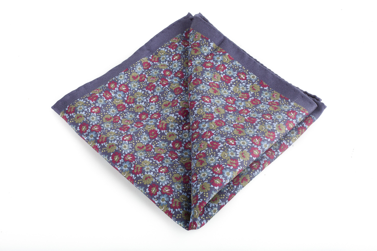 Silk Floral Vintage - Navy Blue/Light Blue/Burgundy/Green